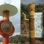 大石グリーンパーク 時計塔・彫刻サイン