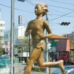 ジョギングロード完成記念碑